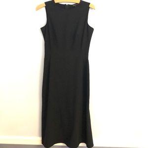 Kenneth Cole Double Side Slit Black Sheath Dress